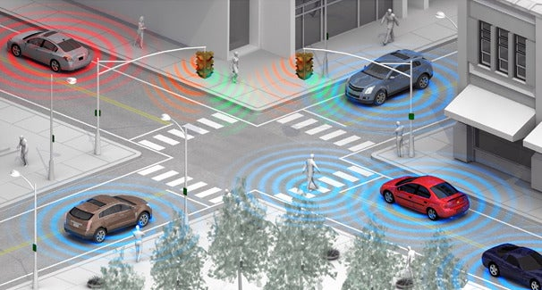 General Motors is working on a Wi-Fi Direct-powered driver assistance feature that could detect pedestrians and bicyclists before the driver can see them.