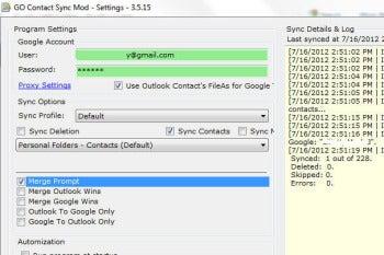 GO Contact Sync screenshot