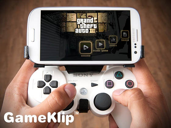 GameKlip Merges Your Android Phone and PS3 Controller Into One