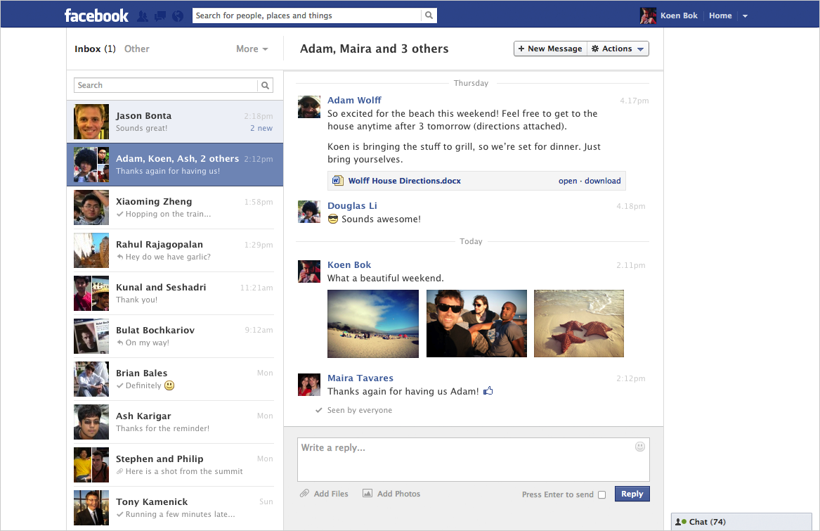 Facebook Messages: A Rundown of Its New Look | PCWorld