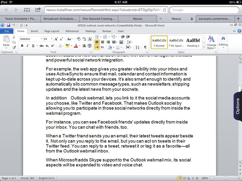 приложение word для ipad - фото 5