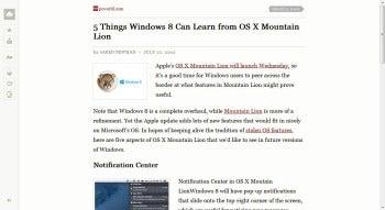 Readability for Chrome screenshot