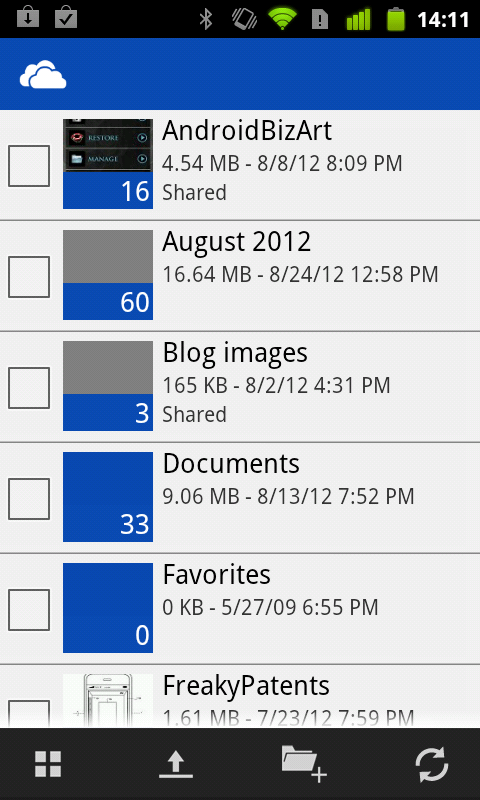 Skydrive For Android A Hands On Tour Greenbot