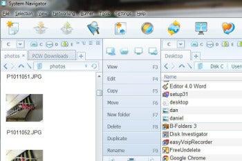 System Navigator screenshot