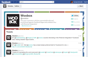 Extend your tweets to Facebook with Woobox.