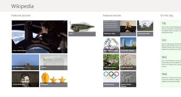 Windows 8 Wikipedia App