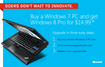 Windows 8 $15 Upgrade Offer: A FAQ for Recent PC Buyers