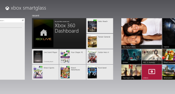 Windows 8 Xbox Smartglass