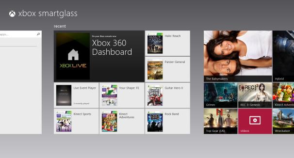 Windows 8 Xbox Smartglass