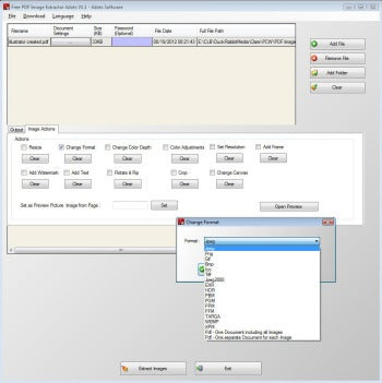 Free PDF Image Extractor screenshot