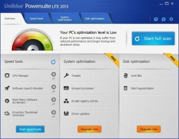 Uniblue Powersuite 2013 screenshot