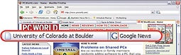 Running a tab: Firefox's tabs lets you flip instantly between sites.