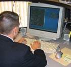 At work: A member of the FBI's Boston cybersquad.