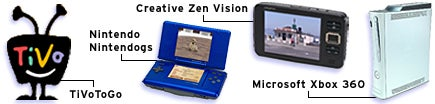 Entertainment: Creative Zen Vision, Microsoft Xbox 360, Nintendo Nintendogs for Nintendo DS, TiVoToGo.