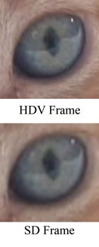 HDV vs. SD  video, example 2