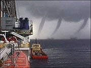 Waterspouts in triplicate--must be Lili!