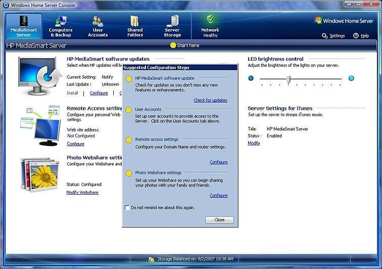 Hands-On: HP MediaSmart Home Server   PCWorld
