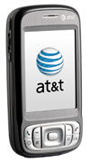The AT&T Tilt with its screen closed.