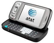 The AT&T tilt, with its screen open.