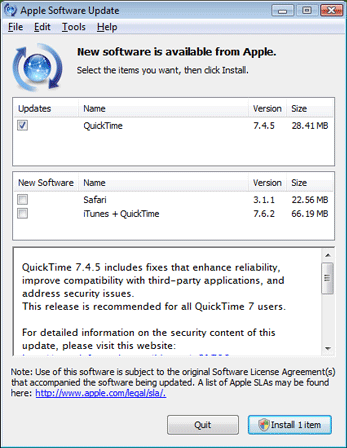 Stop QuickTime Nagging About Safari | PCWorld