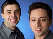 Larry Page (left) and Sergey Brin