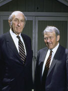 Dave Packard (left) and Bill Hewlett