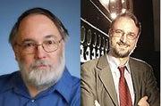 James D. Johnston (left) and Dr. Karlheinz Brandenburg