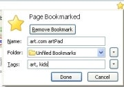 Firefox's quick bookmarking