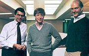 Bill Gates (center) in 1995