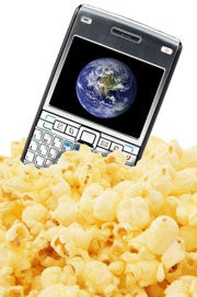 Pop popcorn with a cell phone