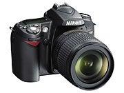 Nikon D90, front view.