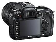 Nikon D90, back view.