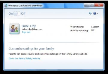 Windows Live Family Safety Filter