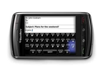 BlackBerry Storm in landscape mode