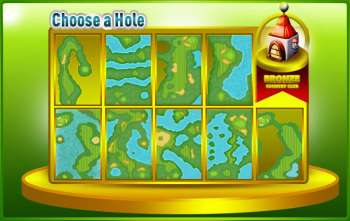 iGolf Bronze course hole menu