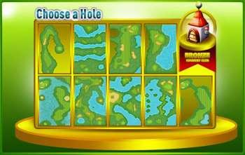 iGolf Bronze course hole menu
