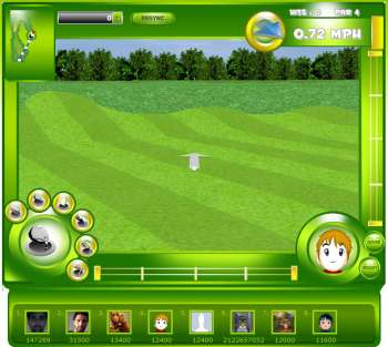 iGolf screen