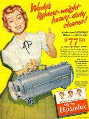 Vintage 1950s vacuum cleaner ad