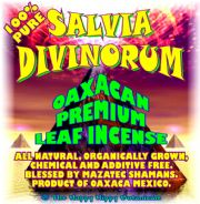 Packaging label for commercially available Salvia divinorum.
