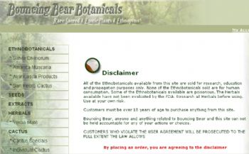 Bouncing Bear Botanicals's disclaimer.