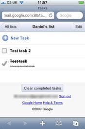 gmail tasks and iphone and t-mobile g1