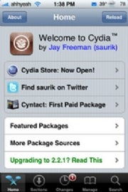 cydia apple iphone app store jailbroken