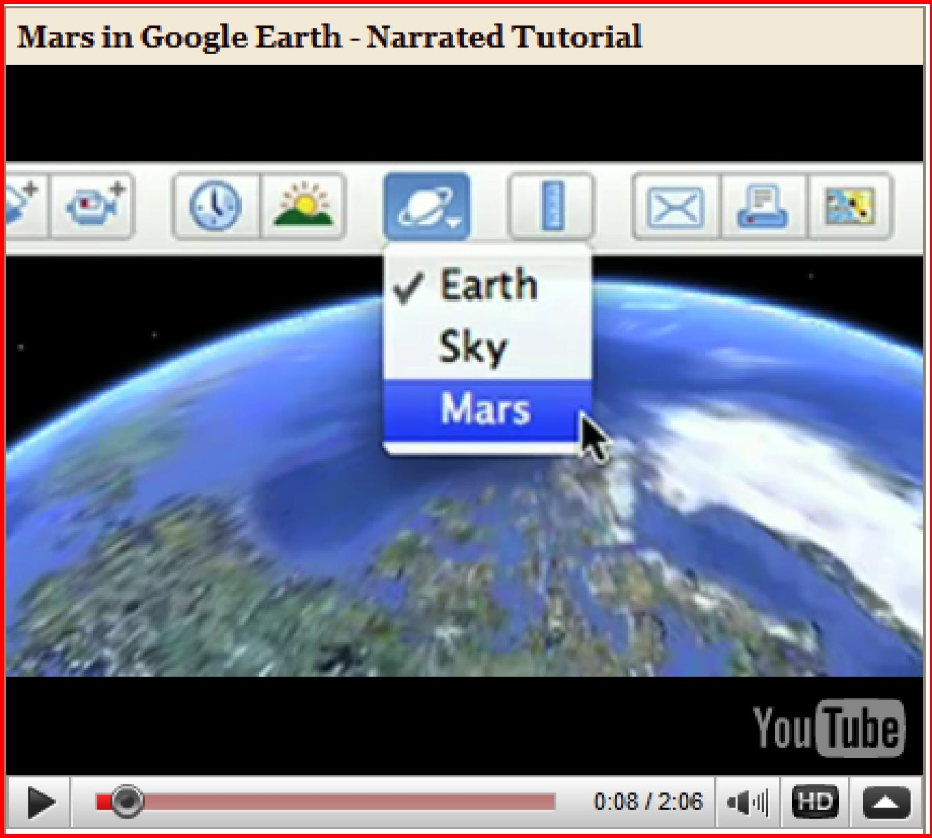 Go to google earth