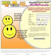 CheckMyPersonality.com online quiz