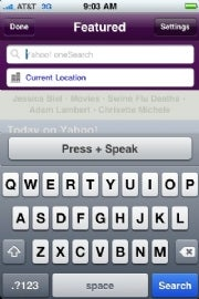 Yahoo Upgrades iPhone App for Voice Search