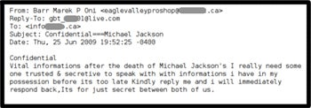 Michael Jackson Death Spurs Spam, Viruses