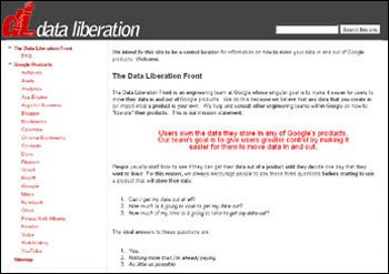 Data Liberation Web Site