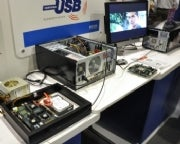 A USB 3.0 test and development setup from Texas Instruments.