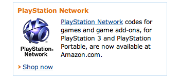 Amazon Selling PS3, PSP Digital Access Game Codes