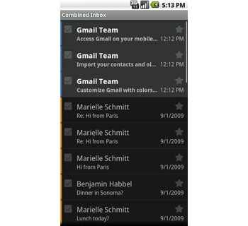 Android 2.0 Combined Inbox